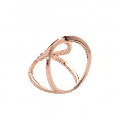 Infinity Ring / Rose Gold Ring / Zi..