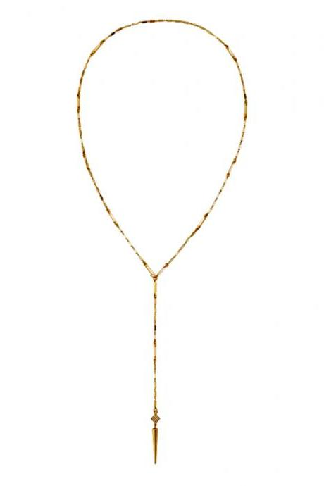 Gold Lariat Necklace / Y Necklace / Gold Necklace / Delicate Necklace / Chain Necklace / Everyday Necklace / Zircon Necklace / Long Necklace